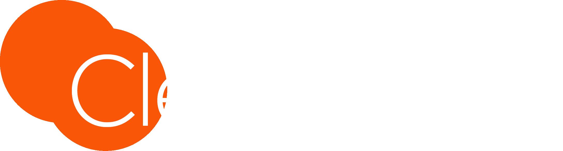 ClearSight Logo White - Orange